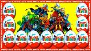 Супер герои Marvel в киндер-сюрпризах