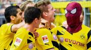 Человек-Паук на футболе в игре на DFL-Supercup Германии
