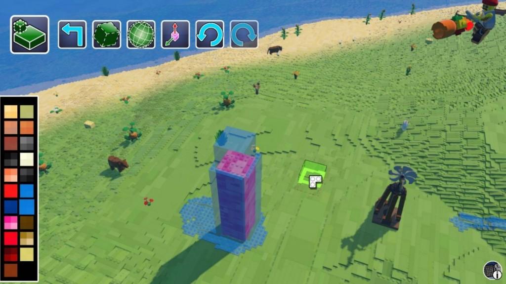 Создать воду в LEGO Worlds