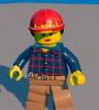 Строитель (жен.) Lego Worlds
