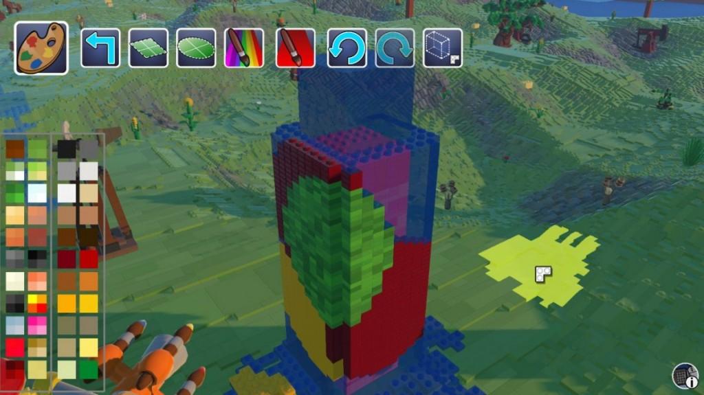 Раскрасить воду в LEGO Worlds