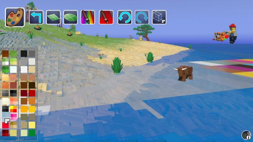 Создать лед в LEGO Worlds