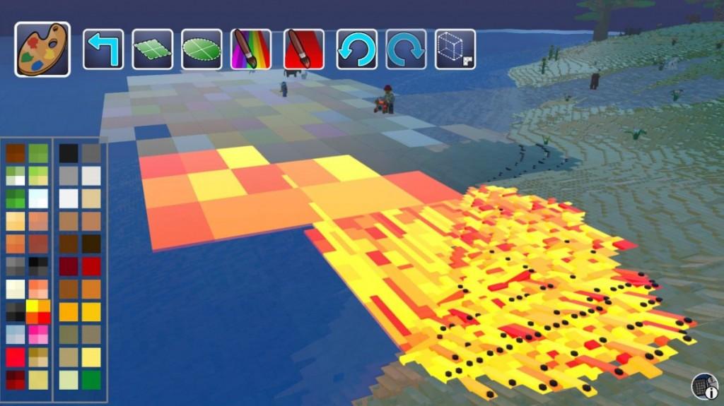 Как сделать лаву в LEGO Worlds